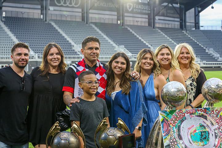 Jaime Moreno and his family